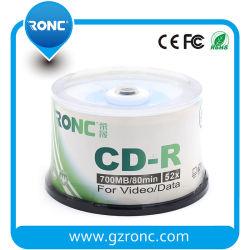 50PCS de Lege Schijf van de Druk van de Compensatie van het pak cd-r 700MB 52X