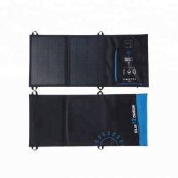 12W panel solar plegable portátil USB Teléfono Móvil Plegable Cargador de batería de coche para el agente