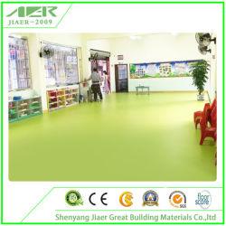 Commerce de gros Couleur Pure linoléum commercial sain étanche Revêtement de sol en vinyle PVC rouleaux