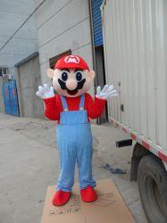 Heißer Verkaufs-erwachsenes Mario-Maskottchen-Feiertags-Kostüm für Partei-Erscheinen