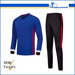 Imprimé en gros hiver Soccer Shirt à manches longues et pantalon de soccer