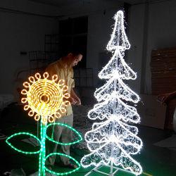 Indicatore luminoso di cristallo commerciale di motivo della decorazione LED dell'albero di Natale di paesaggio LED del LED LED
