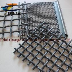 高炭素の鋼鉄によってひだを付けられる編まれた金網/振動スクリーンの網/鉱山スクリーンの網