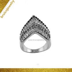 Form-Schmucksache-Straßen-Art-Hip Hop-Silber-und Goldschmucksache-nachgemachter Diamant-Ring