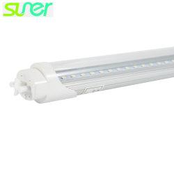 La luz diurna LED T8 tubo con la base de aluminio y cubierta de PC transparente 18W 5000K 4FT 110lm/W