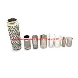 Фильтр из нержавеющей стали провод сетка трубы / круглое отверстие перфорированной металлической цилиндров