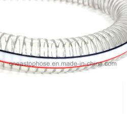 Flexibler, transparenter PVC-Spiralstahldraht-verstärkter Schlauch
