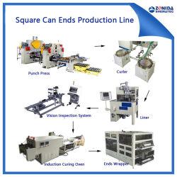 Automatisches Quadrat kann die Enden, die Maschine herstellen zeichnen (CNC H-Typ Locher-Presse)
