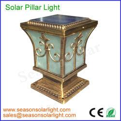 Usine de gros panneau solaire 5w barrière lumière solaire avec éclairage LED Lampe pour Garden Gate l'éclairage
