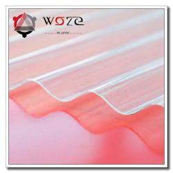 Resistente a UV transparente de papelão ondulado de cor clara capa de chuva o plástico rígido PC Folha de coberturas para lançar o material de construção