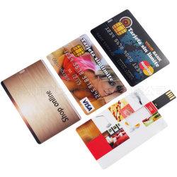 Kreditkarte USB-grellen Fahrer 8GB, das Metall schieben, das Karte USB-Stock-Speicher-Laufwerke, Nizza schauenden Metallkarte USB mit Laser-Firmenzeichen schiebt