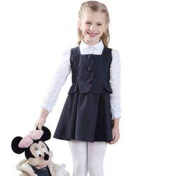 Menina da escola primária uniforme de vestuário