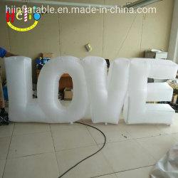 Décoration de mariage de l'événement de grands mots d'éclairage LED géant lettre de l'amour Inflatable