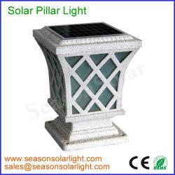 アルミニウム太陽電池パネルの再充電可能な5Wデッキのポストのゲートの柱IP65の屋外の庭LEDの装飾の太陽ライト