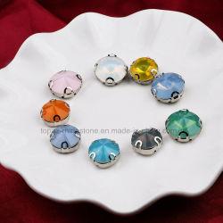 Coudre sur l'acrylique Rhinestone accessoires de couture Rivoli coudre sur la configuration Crystal (SW-Rivoli 14mm)