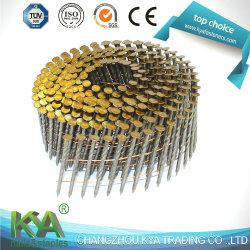 15 grados el zinc el rollo de alambre clavos para la construcción, decoración, el embalaje