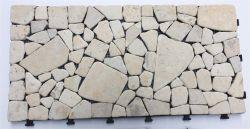 屋外の連結のフロアーリングの自然な石DIYのTravertineの平板のモザイク庭のタイル30*60cm