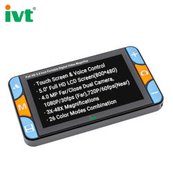 """Ivt VD600+ 5"""" Touch Contorl Contorl voix loupe de vidéo numérique de poche l'outil et accessoires fonctionnels pour la basse vision de la lecture"""