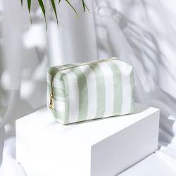 천연 소재 화장품 포장 Bamboo 섬유 녹색 띠 뷰티 파우치