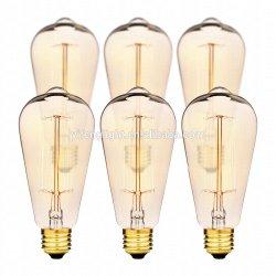 LED Edison 포도 수확 다람쥐 감금소 필라멘트 전구, 60W St64 E27