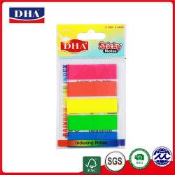 Оптовый продавец флуоресцентные цвета пользовательских Пэт указатель к сведению записки (DH-9610)