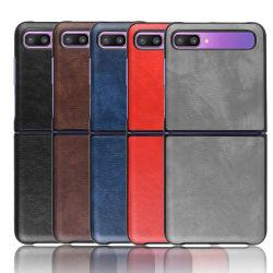 Samsung Zフリップ電話カバーのための革電話箱