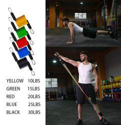 11PCS/Set는 저항 악대 유관 페달 바디 홈 체조 적당 훈련 운동 요가 탄력 있는 풀 밧줄 장비를 운동한다