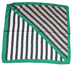 Green Stripes Bandana Neck sjaal Nice Fabric Poly Silk gevoel Zomer herfst