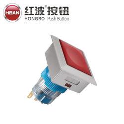 22mm 플라스틱 LED 모멘터리 잠금 1nc 납땜 단자 푸시 버튼 전기 장비 스위치