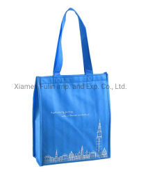 La piegatura promozionale stampata ricicla il sacchetto Non-PP-Tessuto blu del Thermal dell'isolamento del banco