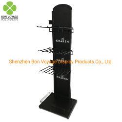 Positions-Metallfußboden-stehende Geschenk-zusätzliche hängende Socken-Bildschirmanzeige-Zahnstange mit Haken