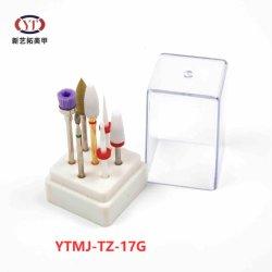 Ytmj-TZ-16g 품질 텅스텐 스틸 전기도금 색상 7가지 스타일 전문가용 네일 드릴 비트 세트 네일 매니큐어 드릴 비트