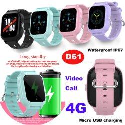Elegante 4G IP67 impermeabile USB ricarica SOS WiFi Tracking bambini Sistema di monitoraggio GPS Smart Phone con pulsante Panic D61