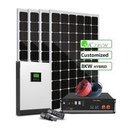 Солнечного электричества генерирования генератор 8000 Ватт солнечной системы питания для дома