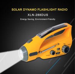 LED متعددة الوظائف قابلة لإعادة الشحن البطارية ميجا/بالطاقة الشمسية/راديو محمول باليد /فلاش مصباح الإنذار/الكشاف