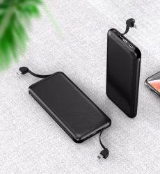 Alta capacidade e preço de fábrica 10000mAh telefone móvel portátil Banco Alimentação Carregador Universal