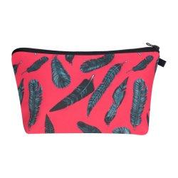 Bilden heißer Verkauf kundenspezifische gedruckte Form Ladys Beutel-Platz-kosmetische Beutel-Blau-Federn Wiz Handtaschen