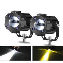 ضوء LED للقيادة بقوة 60 واط مع عدسة جهاز العرض ATV SUV Spotlight ضوء الدراجة البخارية
