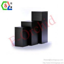 Custom дизайн черный MDF выставки пьедестал подставка для дисплея дизайна моды MDF подставка для дисплея