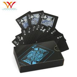 사용자 정의 로고 인쇄 게임 PVC 자료 종이 포커 카드 재생