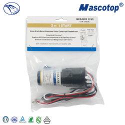 플라스틱 덮개를 가진 CD60 세륨 모터 시작 축전기