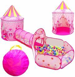3 em 1 Crianças brincam tenda três Conjunto de peça Kids tenda azul no brinquedo tendas túnel com equipamentos de entretenimento