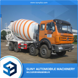 14-15 CBM 중부하 작업용 유압 벤츠 믹서 - 펌프 자동 자체 적재 디젤 시멘트 믹서 탱크 회전 콘크리트 드럼 트랜짓 믹서 트럭