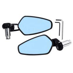 مرآة الرؤية الخلفية الجانبية الطرفية للدراجة البخارية قياس 7/8 بوصات مقاس 22 مم أدوات مرايا الرؤية الخلفية لدراجة بخارية دراجة بخارية