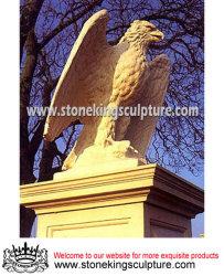 Mármol Natural Águila de talladas a mano (SK-1179)