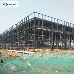 中国の既製の低価格のプレハブの軽い自己の2階建ての鉄骨構造の建物