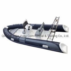 Fashion 4,8M PVC bateaux gonflables en fibre de verre de la console centrale avec le moteur pour la vente