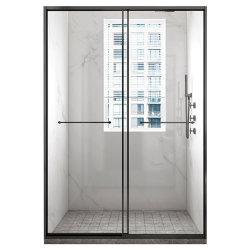 Rahmenlose Gold Aluminium Hardware Creatace Badezimmer Dusche Kabine Gehäuse Glas Schiebetür Badezimmer Glas Duschschirm