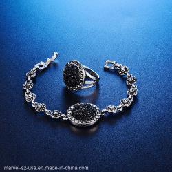Silberne Farben-runde Steinfrauen-Kristallschmucksache-gesetztes Armband