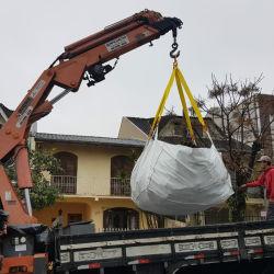scomparto del bidone della spazzatura del sacchetto di salto 3m3 per l'accumulazione residua in noi per il carrello elevatore della gru